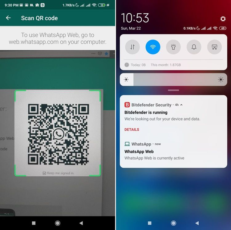 Scan QR Code WhatsApp Web